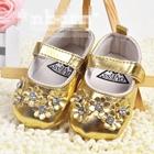 รองเท้าเด็ก-GUESS-ดอกไม้-สีทอง-(3-คู่/แพ็ค)