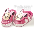 รองเท้าเด็กคุณหนู-Minnie-ลายจุดสีชมพู-(3-คู่/แพ็ค)