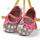 รองเท้าเด็กลายจุดใหญ่-สีเบจ-(3-คู่/แพ็ค)