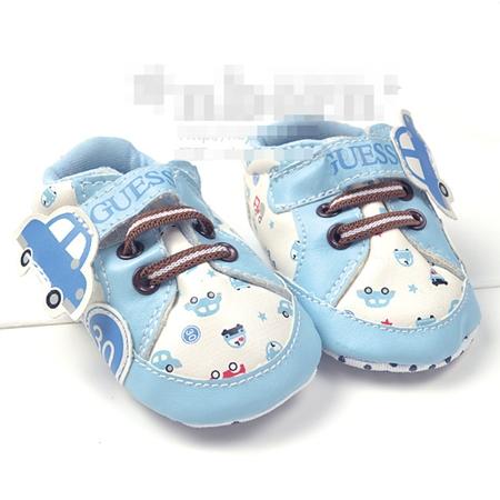 รองเท้าเด็ก GUESS รถเต่า สีฟ้า (3 คู่/แพ็ค)