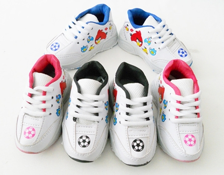 รองเท้าผ้าใบ Angry Birds Football สีดำ(5คู่/แพ็ค)