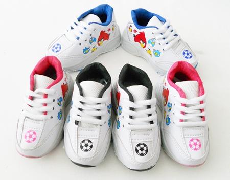 รองเท้าผ้าใบ Angry Birds Football สีฟ้า(5คู่/แพ็ค)