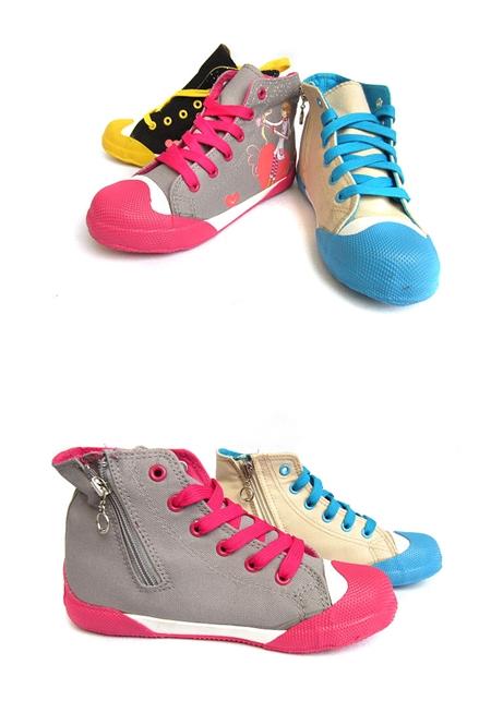 รองเท้าผ้าใบเจ้าชายน้อย สีครีม (7คู่/แพ็ค)