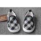 รองเท้ากวางน้อย-ลายตาราง-สีขาวดำ-(8คู่/แพ็ค)