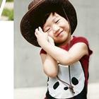 เสื้อยืด-Panda-สีแดง-(5size/pack)