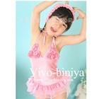 ชุดว่ายน้ำกระโปรงบานดอกไม้สีชมพู-(5size/pack)