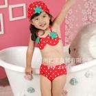 Bikini-เด็กสตอเบอรี่สีแดง-(5size/pack)