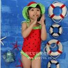 ชุดว่ายน้ำเด็กแตงโมสีแดง-(5size/pack)