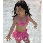 Bikini-กระโปรงโบว์น้อยน่ารักสีชมพู-(5size/pack)