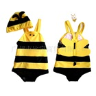 ชุดว่ายน้ำผึ้งน้อยน่ารักสีเหลือง-(5size/pack)