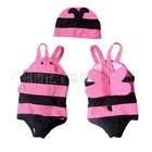 ชุดว่ายน้ำผึ้งน้อยน่ารักสีชมพู-(5size/pack)