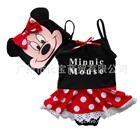 ชุดว่ายน้ำกระโปรง-Minnie-Mouse-สีแดง-(5size/pack)