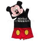 ชุดว่ายน้ำกางเกง-Mickey-Mouse-สีแดง-(5size/pack)