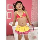 Bikini-กระโปรงบานระบายสีเหลือง-(5size/pack)