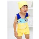 ชุดว่ายน้ำกางเกงวัวน้อยสีเหลือง-(5size/pack)