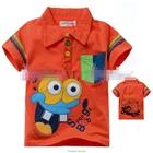 เสื้อแขนสั้น-SpongBob-สีส้ม-(5size/pack)