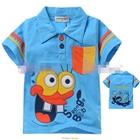 เสื้อแขนสั้น-SpongBob-สีฟ้า-(5size/pack)