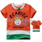 เสื้อแขนสั้น-SEASIDE-สีส้ม-(5size/pack)