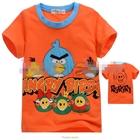 เสื้อแขนสั้น-Angry-Birds-สุดซ่า-สีส้ม-(5size/pack)