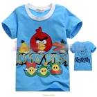 เสื้อแขนสั้น-Angry-Birds-สุดซ่า-สีฟ้า-(5size/pack)