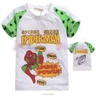เสื้อแขนสั้น-SpiderMan-Hero-สีขาว-(5size/pack)