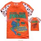 เสื้อแขนสั้น-SpiderMan-Hero-สีส้ม-(5size/pack)