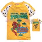 เสื้อแขนสั้น-SpiderMan-Hero-สีเหลือง-(5size/pack)
