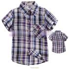 เสื้อเชิ้ต-CowBoy-สก๊อต-สีม่วงดำ-(5size/pack)