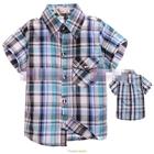 เสื้อเชิ้ต-CowBoy-สก๊อต-สีเขียวฟ้าดำ-(5size/pack)