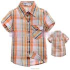 เสื้อเชิ้ต-CowBoy-สก๊อต-สีส้มขาว-(5size/pack)