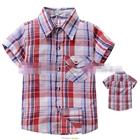 เสื้อเชิ้ต-CowBoy-สก๊อต-สีขาวแดง-(5size/pack)