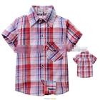เสื้อเชิ้ต-CowBoy-สก๊อต-สีแดงขาวฟ้า-(5size/pack)