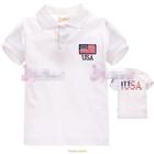 เสื้อโปโล-USA--สีขาว-(5size/pack)