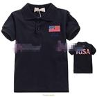 เสื้อโปโล-USA--สีดำ-(5size/pack)