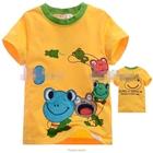 เสื้อแขนสั้นครอบครัวกบ-สีเหลือง-(5size/pack)