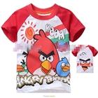 เสื้อแขนสั้น-Angry-Birds-สุดฮิต-สีแดง-(5size/pack)