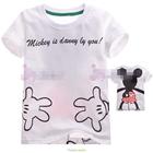 เสื้อแขนสั้นโอบกอด-Mickey-Mouse-สีขาว-(5size/pack)