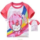 เสื้อแขนสั้น-Hello-Kitty-สายรุ้ง-(5size/pack)