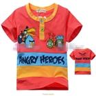 เสื้อแขนสั้น-Angry-Birds-Gang-สีส้ม-(5size/pack)
