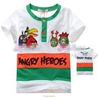 เสื้อแขนสั้น-Angry-Birds-Gang-สีขาว-(5size/pack)