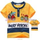 เสื้อแขนสั้น-Angry-Birds-Gang-สีเหลือง(5size/pack)