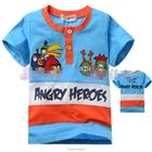 เสื้อแขนสั้น-Angry-Birds-Gang-สีฟ้า-(5size/pack)