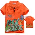 เสื้อโปโล-Angry-Birds-เตรียมยิง-สีส้ม-(5size/pack)