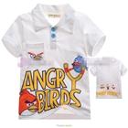 เสื้อโปโล-Angry-Birds-เตรียมยิง-สีขาว-(5size/pack)