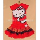 ชุดเสื้อกระโปรง-Kitty-ลูกไฮโซ-สีแดง-(5-ตัว/pack)