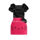 ชุดเดรส-Hello-Kitty-ขยิบตา-คละสี-(10-ตัว/pack)