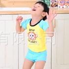 เสื้อกางเกงว่ายน้ำลิงน้อยสีเหลือง-(5size/pack)