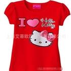 เสื้อแขนสั้น-I-LOVE-KITTY-สีแดง-(5-ตัว/pack)