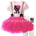 ชุดเดรสกางเกง-Black-Kitty-สีชมพู-(5-ตัว/pack)
