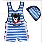 ชุดว่ายน้ำกางเกงหมีน้อยน่ารักสีฟ้า-(5size/pack)